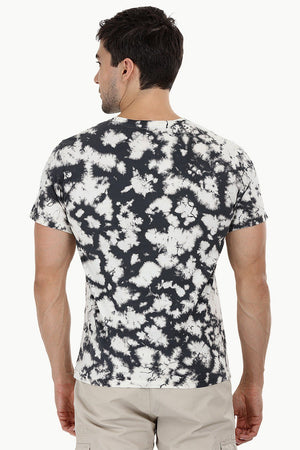 Blotch Effect Tie Dye T Shirt