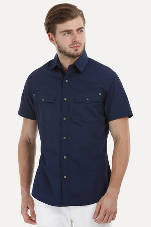 Bold Shirt with Detailed Pockets
