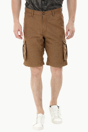 Brown light Print Cargo Shorts