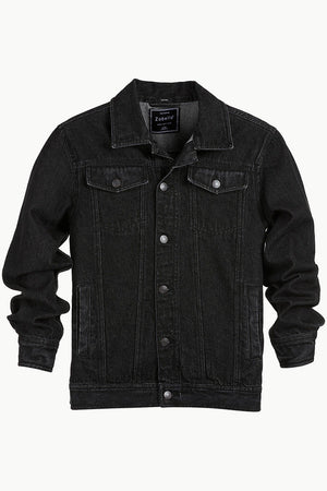 Buttoned Black Denim Jacket