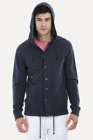 Buttoned Casual Hoodie