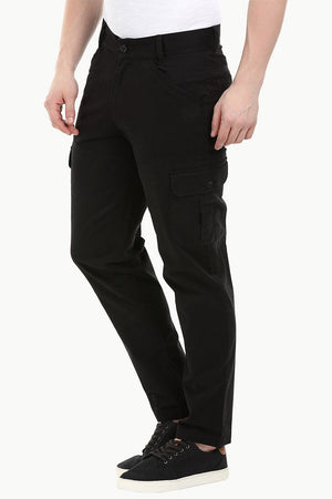 Men's Black 6 Pocket Twill Cargo Pants