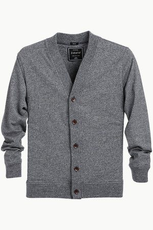 Men's Buttoned Steel Grey English Cardigan