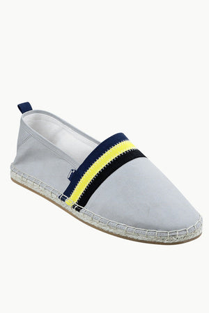 Men's Grey Cut N' Sew Canvas Espadrilles