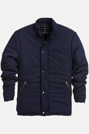Men's Navy Padded Winter Zipper Jacket