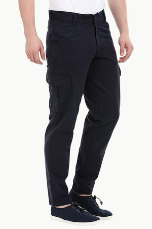 Men's Navy 6 Pocket Twill Cargo Pants