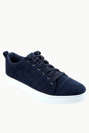 Men's Suede Navy  Sneakers
