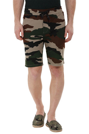 Camo Knitted Workout Shorts