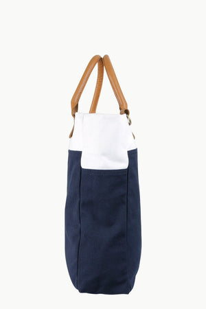 Zobello Canvas Colorblock Urban Tote Bag