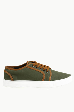 Canvas Low Ankle Lace Up Plimsolls