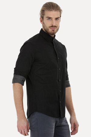 Casual Band Collar Shirt