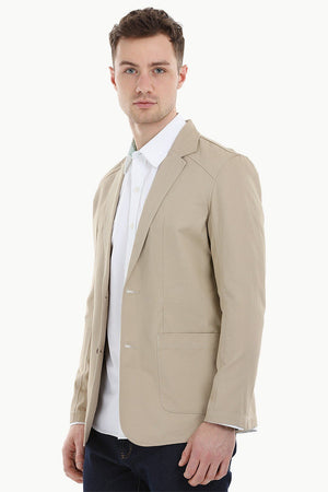 Casual Brown Notched Blazer