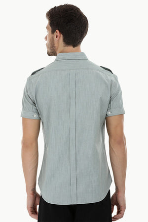 Short Sleeves Shirt with Epaulets