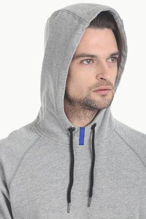 Cotton Fleece Hoodie With Zipper