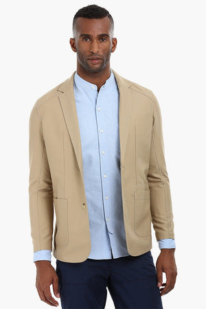 Casual Solid Cotton Blazer