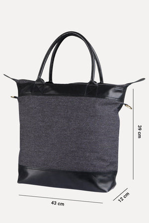 Charcoal Twill Urban Tote Bag
