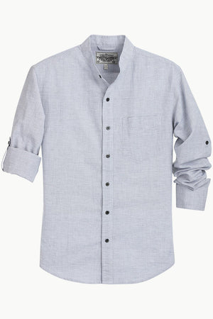Chinese Collar Casual Shirt