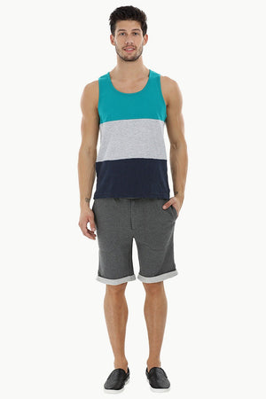 Casual Color-Block Beach Tank