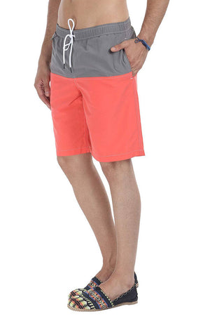 Bright Color Block With 9'' Inseam