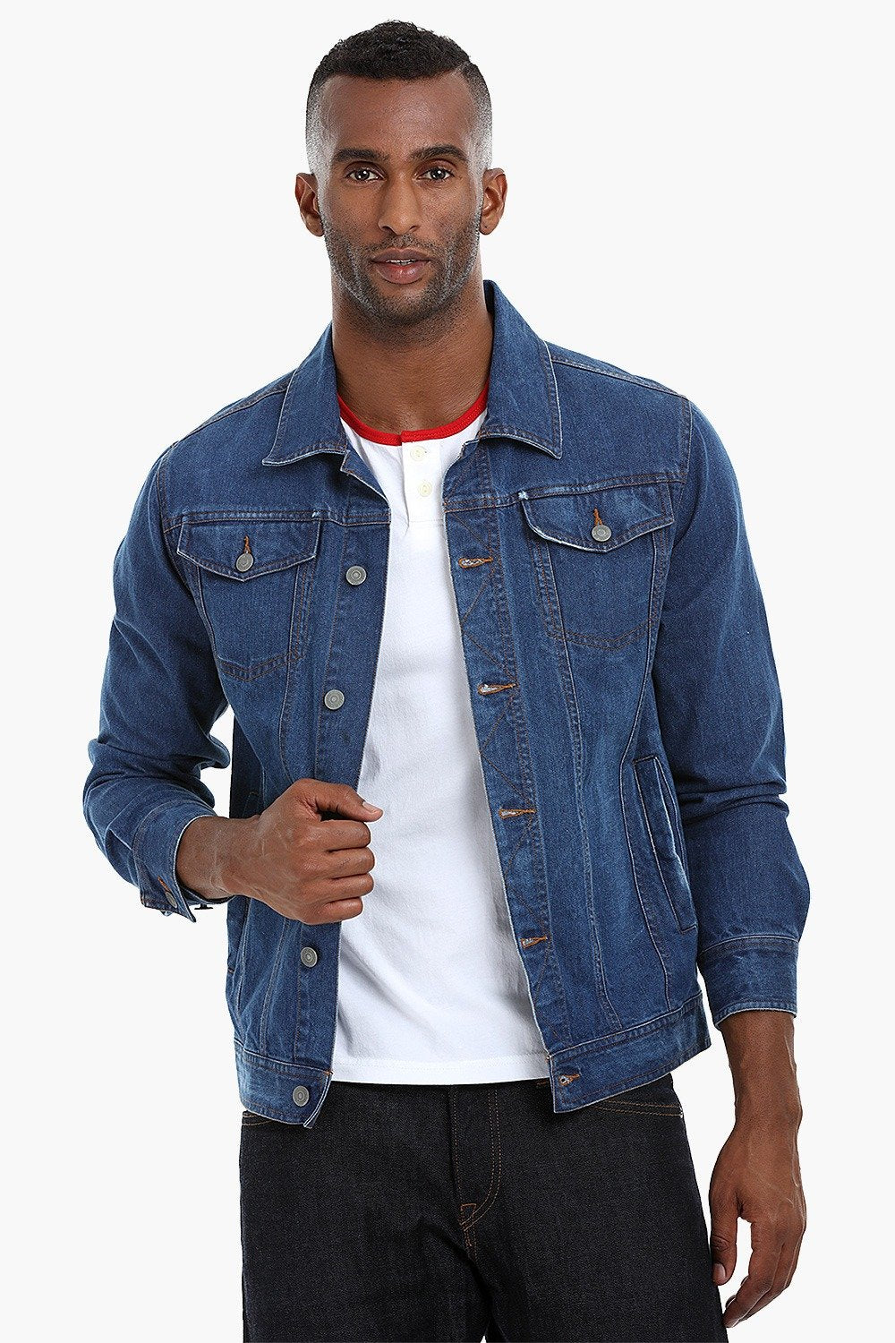 2b240880bfcf Buy Online Denim Blue Contemporary Cowboy Denim Jacket for Men ...