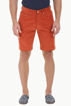 Slight Stretch Cord Slim Fit Shorts
