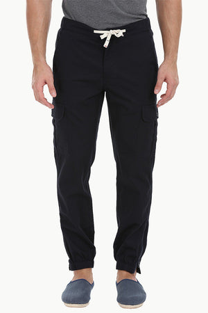 Lightweight Twill Relaxed Fit Cuff Jogger Pant