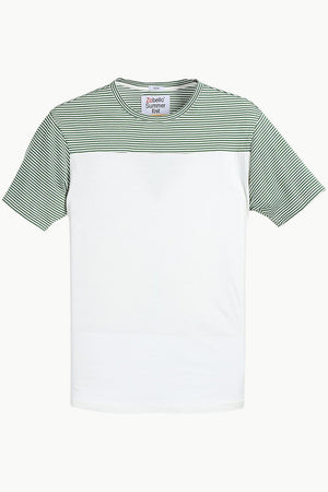 Cut & Sew Stripe T-Shirt