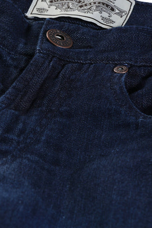 Dark Wash Indigo Denim Shorts