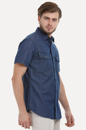 Ditsy Printed Shirt With Detailed Pockets