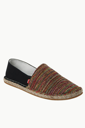 Dobby Red Detail Ikat Espadrilles