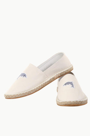 Dolphin Embroidered Espadrilles