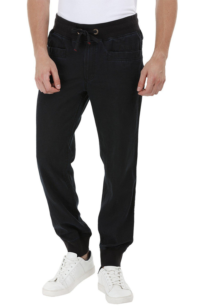 Drawcords Dark Denim Cuff Joggers