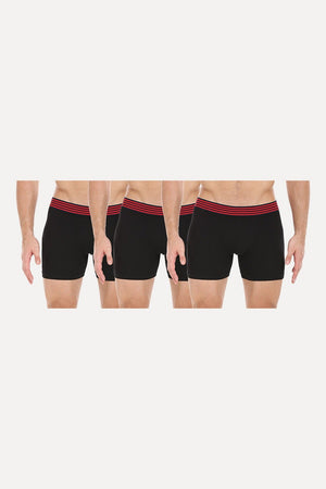 Unicolor Stretchable Briefs - Pack Of 3