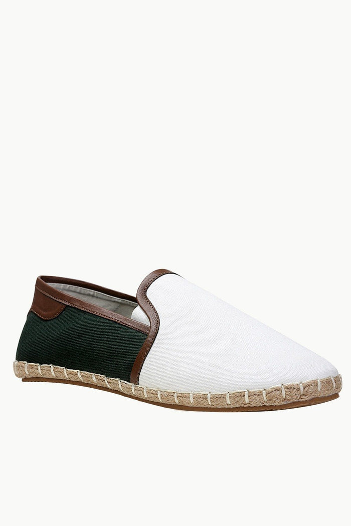 Faux Leather Detailed Espadrilles