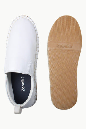 Faux Leather with Side Elastic Espadrilles