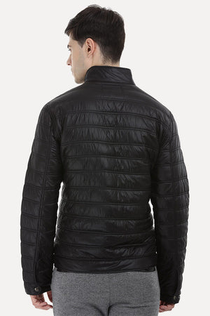 Full Zipper Solid Padded Jacket