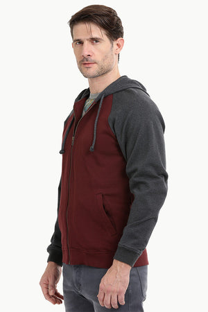 Full Zipper Raglan Hooded Jacket