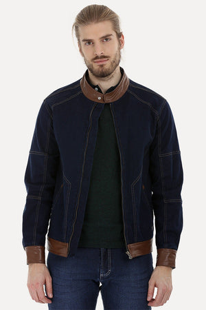 Full Zipper Urban Denim Jacket