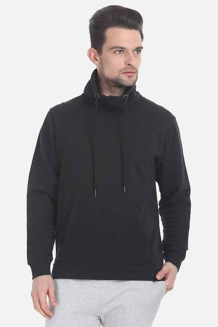High Neck Fleece Sweatshirt