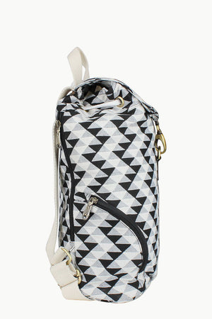 Aztec Weave And Leather Bag
