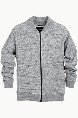 Heather Grey Zipper Fleece Jacket