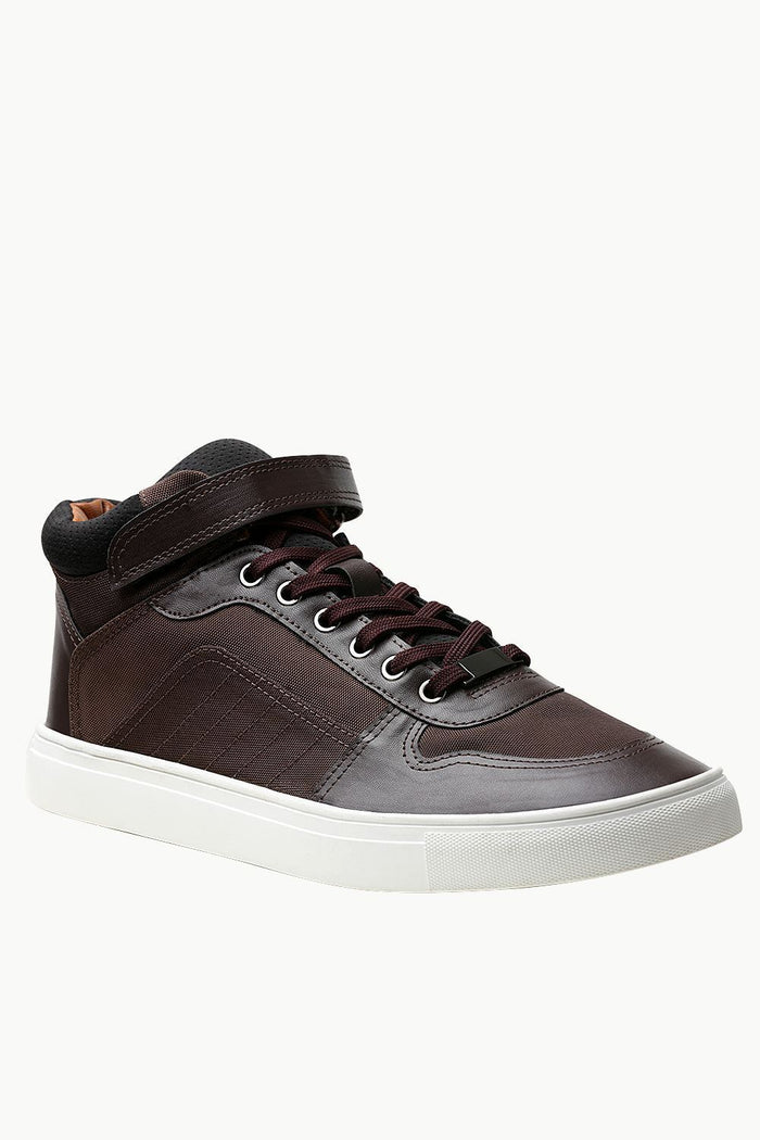 High Ankle Brown Laceup Plimsolls