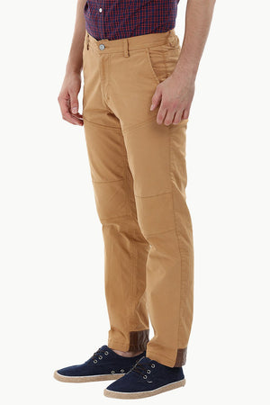Knee-Patch Dapper Chinos