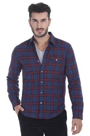 Windowpane Check Plaid Shirt Shirt With Lining