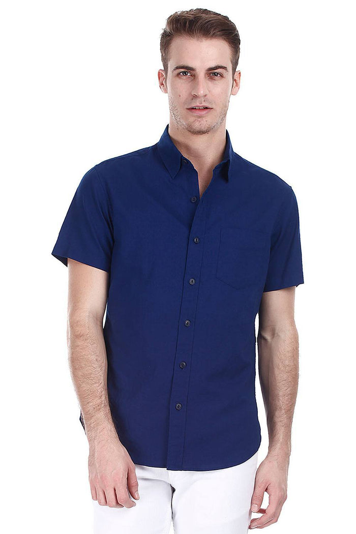 Light Weight Oxford Sort Sleeves Shirt