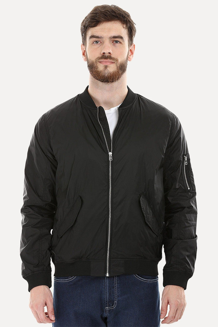 Lightweight Black Bomber Jacket