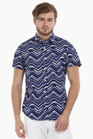 Lightweight Geometric Print Shirt