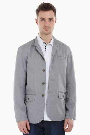Lightweight Grey Nehru Jacket