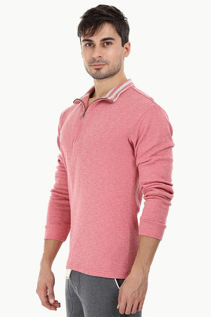 Lightweight Mock Collar Sweatshirt