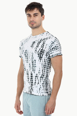 Linear Tie Dye Stripe T-Shirt